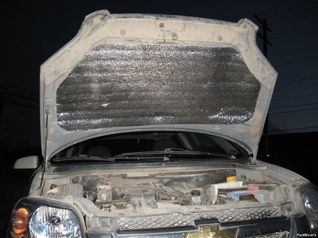 Чем утеплить двигатель авто на зиму своими руками 66